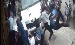 Car rams people on busy pedestrians street in Bengaluru