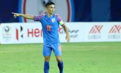 Indian football team skipper Sunil Chhetri