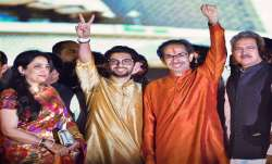 Aaditya Thackeray shares candid photo of Uddhav's swearing-in ceremony