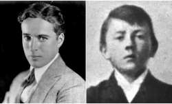 Charlie Chaplin without moustache to Adolf Hitler at