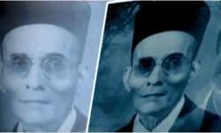 Veer Savarkar photo defaced, BHU Campus, Banaras Hindu University, BHU Veer Savarkar, Ink splashed,