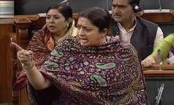 Congress looted country, Modi brought development, says Smriti Irani