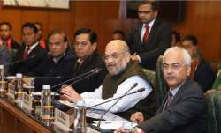 Union Home Minister Amit Shah presides over signing of the