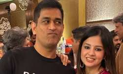 MS Dhoni and his wife Sakshi
