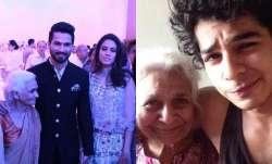 Shahid Kapoor grandmother