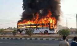 KSRTC bus catches fire in Chitradurga; 30 passengers have narrow escape