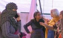 SC appointed interlocuter Sadhana Ramachandran arrives at Shaheen Bagh t0 resume talk protests