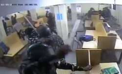 cctv video jamia library video, jamia library video Dec 15, Delhi police beat students jamia library