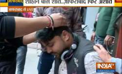 India TV cameraman Farmaan Malik sustained a head injury