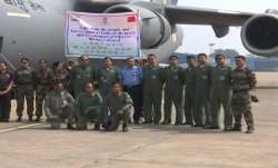 IAF flight leaves for China carrying 15 tonnes of medical supplies
