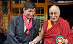 Democratically elected leader of Tibetan, Lobsang Sangay welcomes Donald Trump to India
