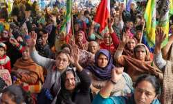 A file photo of protestors at Shaheen Bagh
