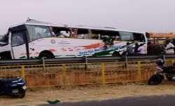 19 killed, bus-truck collision, Tamil Nadu, Tirupur