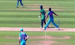 JaspritBumrah bowling a no-ball in the historic final