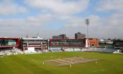 The Old Trafford Ground in Manchester where the second and