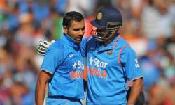Rohit Sharma with MS Dhoni