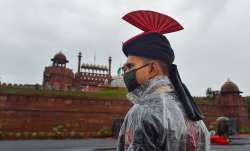 New Delhi: An Army officer during the full dress rehearsals