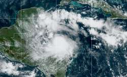 This satellite image released by the National Oceanic and Atmospheric Administration (NOAA) shows Tr