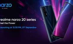 realme, realme smartphones, realme narzo 20 series, realme narzo 20 series launch in india today, re