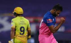 Live score Chennai Super Kings vs Rajasthan Royals IPL 2020: Rayudu departs as CSK struggle