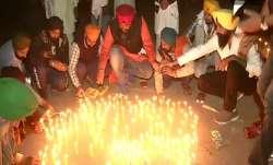 Punjab farmers at Singhu border pray, light diyas' on Guru Nanak Jayanti