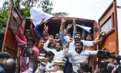 Telangana BJP protests in Hyderabad