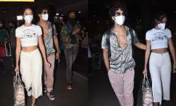 Ananya Pandey, Ishaan Khatter returns to the bay after