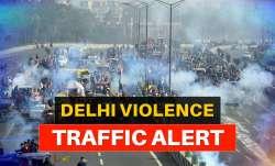 delhi traffic alert