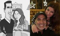 Akshay Kumar returns home he tests negative for COVID19; Twinkle Khanna shares adorable caricature