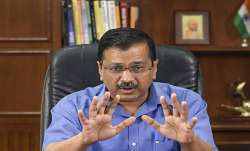 Delhi Chief Minister Arvind Kejriwal addresses a press