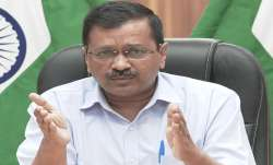 Delhi Chief Minister Arvind Kejriwal addresses a presser on