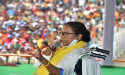 West Bengal Chief Minister Mamata Banerjee addresses an