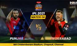 Live Score PBKS vs SRH IPL 2021 Match 14: Live Updates from Punjab Kings vs Sunrisers Hyderabad in C