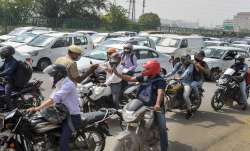 Traffic jam at Delhi- Gurugram Expressway amid checks at