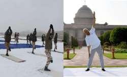 india celebrates international yoga day 2021 pics