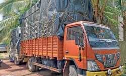 Speedy truck, breakage, railway barrier, truck seized, eight kg poppy straw, latest crime news, nati