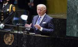 President Joe Biden delivers remarks to the 76th Session of