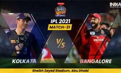 IPL 2021 KKR vs RCB Live Cricket Score