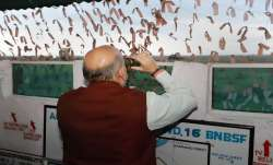Union Home Minister Amit Shah during a visit to Maqwal, the