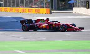 Charles Leclerc on pole for Azerbaijan after crashes halt qualifying
