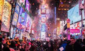 New Year is welcomed with giant ball drop at New York's