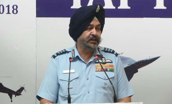 IAF chief during presser in new Delhi today
