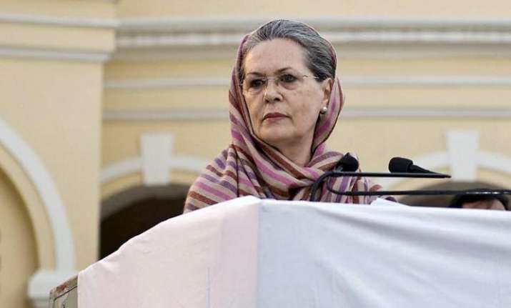 Former Congress president Sonia Gandhi- File pic
