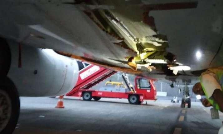 Air India plane that hit Trichy airport
