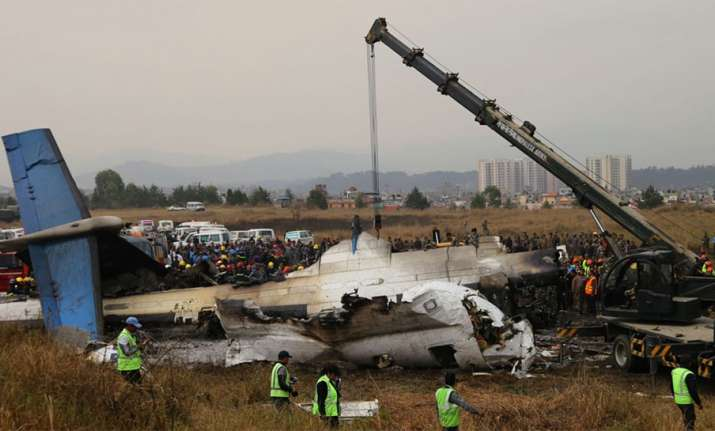 12 March: A plane carrying 71 passengers and crew crashed