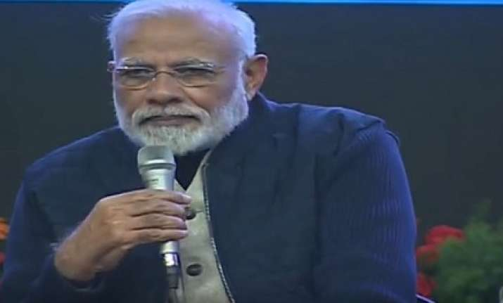 PM Modi interacts with students in J-K