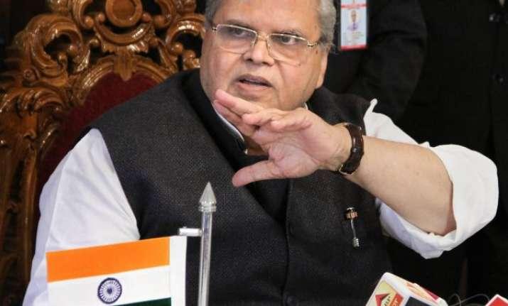 J&K Governor, Satya Pal Malik addressing media