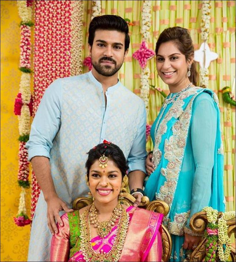 See pics megastar chiranjeevis daughter gets married srija being blessed by brother actor ram charan teja altavistaventures Choice Image