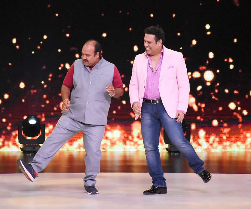 Dancing uncle Sanjeev Srivastav dances with Govinda in