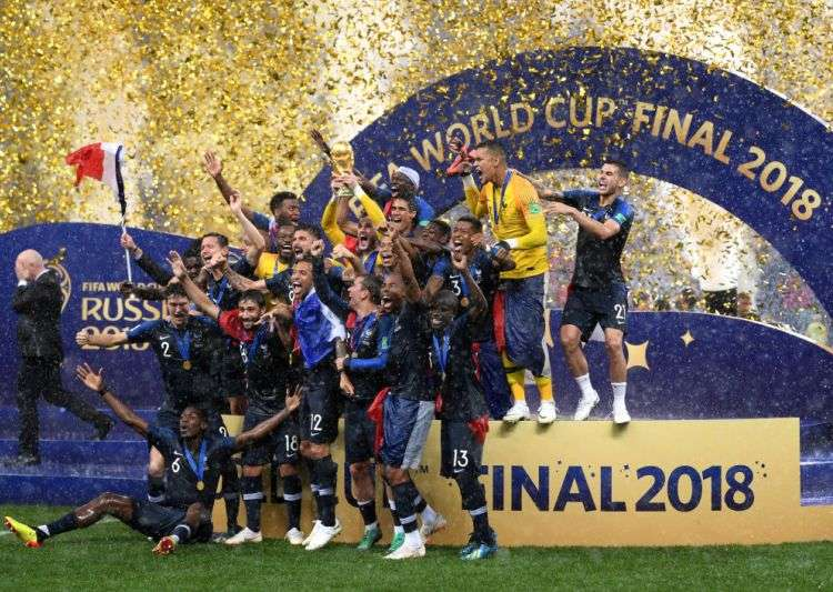 France coach Didier Deschamps became only the third man to win the World Cup as a player and a coach. Mario Zagallo of Brazil and Franz Beckenbauer of Germany are the others.